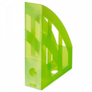Stojan na časopisy Herlitz transparentný zelený