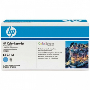 Toner HP CE261A LaserJet CP4525 cyan