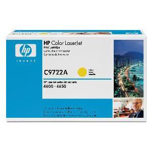 Toner HP C9722A, yellow