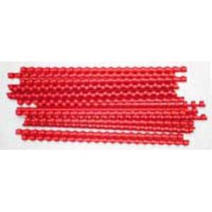 Plastové hrebene 10 červené