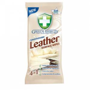 Green Shield čistiace utierky na kožu 50ks