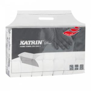 Papierové uteráky skladané ZZ 2-vrstvove KATRIN Plus super Handy pack biele