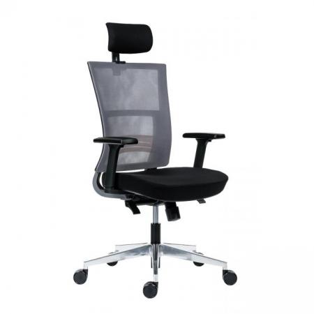 Kancelárska stolička Next sivá s čiernym sedákom
