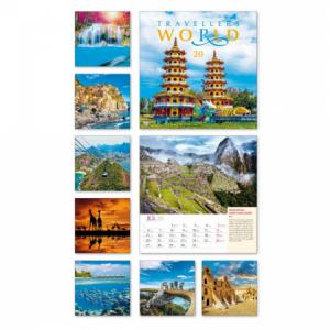 Nástenný kalendár Travellers World 2020