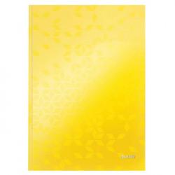 Záznamová kniha Leitz WOW A4 80 listov linajková žltá