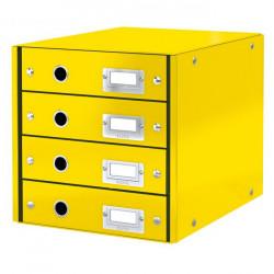 Zásuvkový box Leitz Click & Store 4 zásuvky žltý