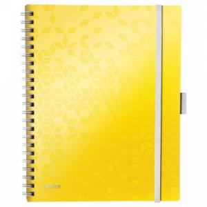 Blok poznámkový linajkový mobilný Leitz WOW A4 žltý