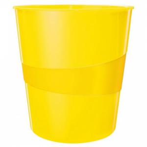 Kôš plastový Leitz WOW 15l žltý