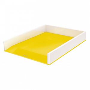 Odkladač Leitz WOW biely/žltý
