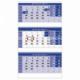 Trojmesačný kalendár modrý so špirálou 2020