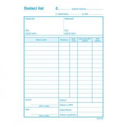 Dodací list A5 s DPH samoprepis
