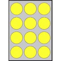 Etikety farebné priemer 60mm APLI A4 20 hárkov fluo žlté