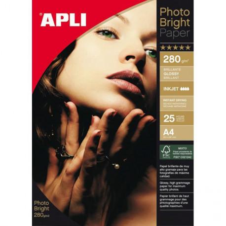 Fotopapier APLI A4 Bright 280g 25 hárkov