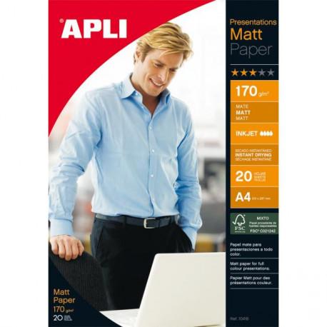 Fotopapier APLI A4 matný 170g 20 hárkov