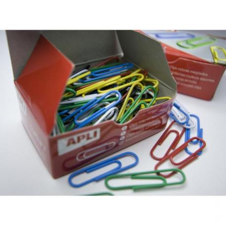 Spisové spony APLI 32mm potiahnuté plastom farebné 32 mm 100ks