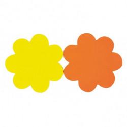 Popisovateľný farebný kartón kvet priemer 8cm APLI mix žltá-oranžová