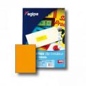 Etikety farebné 210x297mm APLI A4 100 hárkov fluo oranžové