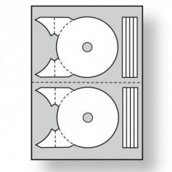 Etikety univerzálne na CD/DVD priemer 117,5 -17mm Agipa 100 hárkov