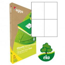 Etikety univerzálne recyklované 105x148,5mm Agipa A4 100 hárkov