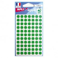 Etikety kruhové 8mm APLI zelené