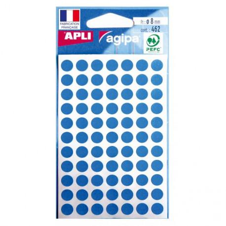 Etikety kruhové 8mm APLI modré