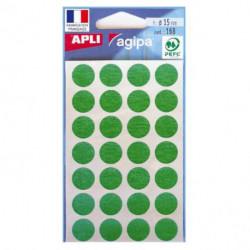 Etikety kruhové 15mm APLI zelené