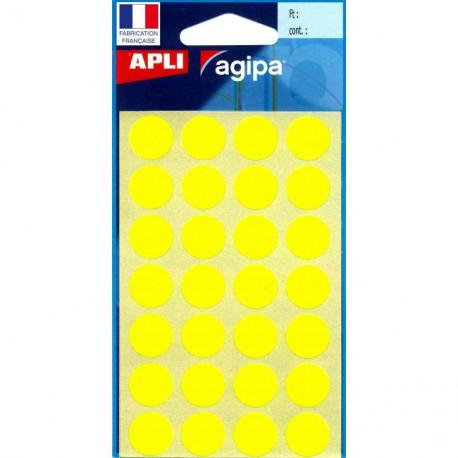 Etikety kruhové 15mm APLI žlté