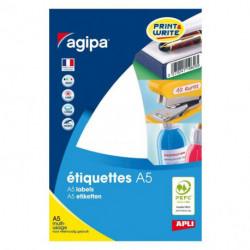 Etikety kruhové 15mm Agipa A5 biele