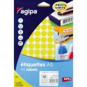 Etikety kruhové 15mm Agipa A5 žlté
