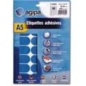 Etikety kruhové 24mm Agipa A5 modré
