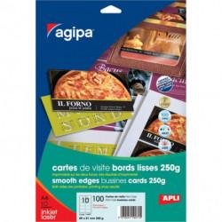 Vizitkový papier 89x51mm FirstClass Agipa A4 250g 10 hárkov