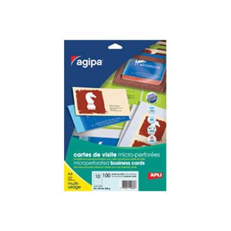 Vizitkový papier 90x50mm Agipa A4 s mikroperforáciou 200g 10 hárkov
