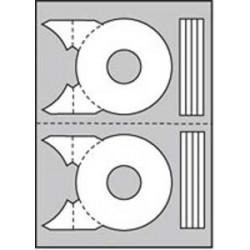 Etikety univerzálne na CD/DVD priemer 114mm Agipa 20 hárkov