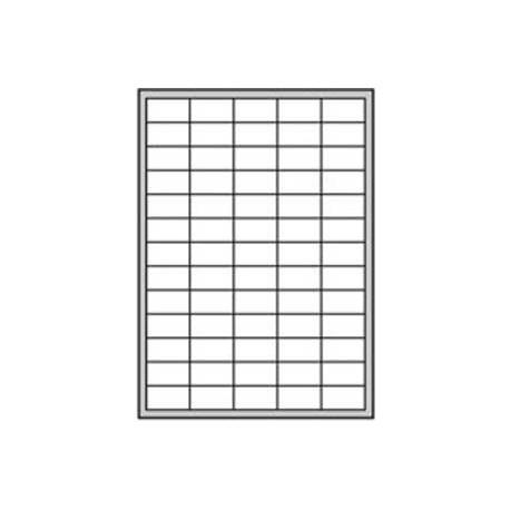 Etikety univerzálne odnímateľné 35,6x16,9mm Agipa A4 25 hárkov