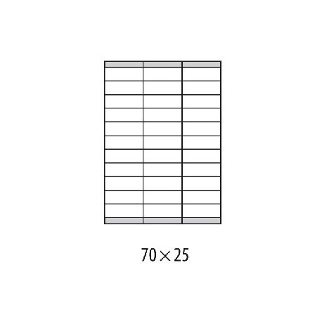 Etikety univerzálne 70x25mm Etibox A4 100 hárkov