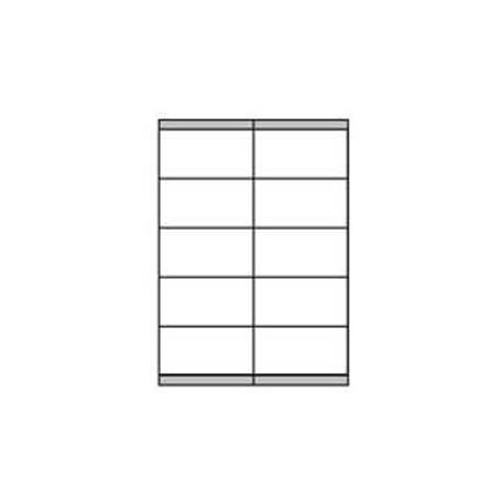 Etikety univerzálne 105x57mm Etibox A4 100 hárkov