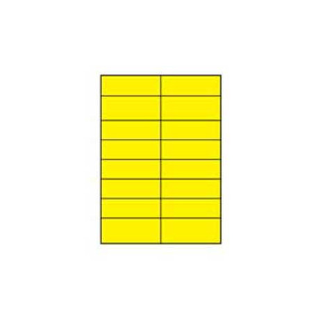 Etikety farebné 105x37mm APLI A4 100 hárkov žlté
