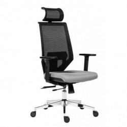 Kancelárska stolička Edge čierna so sivým sedákom