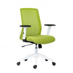 Kancelárska stolička Novello White zelená