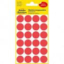 Etikety kruhové 18mm Avery červené
