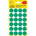 Etikety kruhové 18mm Avery zelené