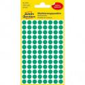 Etikety kruhové 8mm Avery zelené