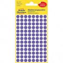 Etikety kruhové 8mm Avery fialové