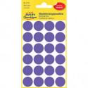 Etikety kruhové 18mm Avery fialové