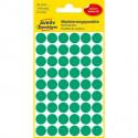 Etikety kruhové 12mm Avery zelené