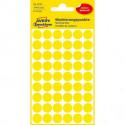 Etikety kruhové 12mm Avery žlté