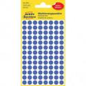 Etikety kruhové 8mm Avery odnímateľné modré