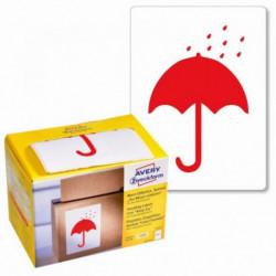 Etikety Avery s varovným symbolom _ Uchovajte v suchu_ 74x100mm na kotúči