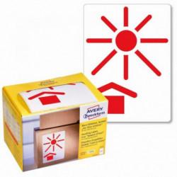 Etikety Avery s varovným symbolom _ Chráňte pred teplom_ 74x100mm na kotúči