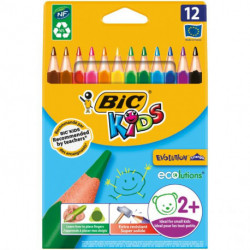 Farbičky BIC trojhranné odolné voči lámaniu 12ks